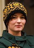 Knitted hat with bird pattern from Härkeberga church