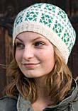 Knitted hat with pattern from Sånga church